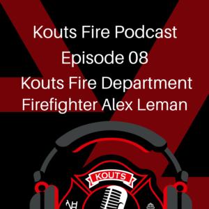Kouts Firefighter Alex Leman