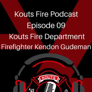 Kouts Firefighter Kendon Gudeman